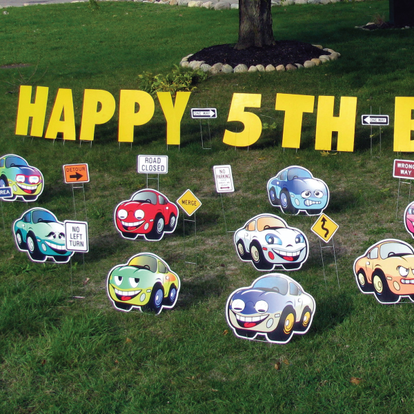 cars_theme_yard_greetings_cards_lawn_signs_happy_birthday_over_the_hill