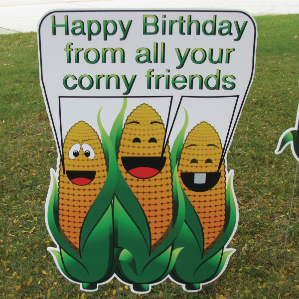 Corn Ears Old Theme Yard Greetings Lawn Signs Happy