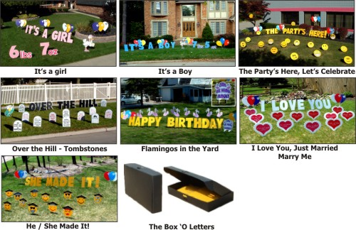 Nationwide Rentals Yard Greetings Lawn Signs Over Hill Happy