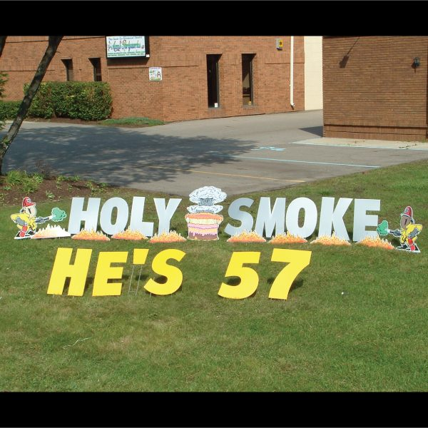 firemen_holy_smoke_yard_greetings_lawn_signs_cards_happy_birthday_hoppy_over_hill