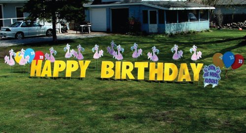 flamingos_Yard_Greetings_Cards_Lawn_Signs_Happy_Birthday_Over_the_hill