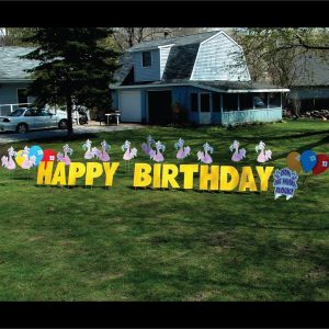 flamingos_yard_greetings_lawn_signs_cards_happy_birthday_hoppy_over_hill