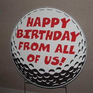 go11_golf_duffer_over_the_hill_happy_birthday_yard_greetings_cards_lawn_signs_sports