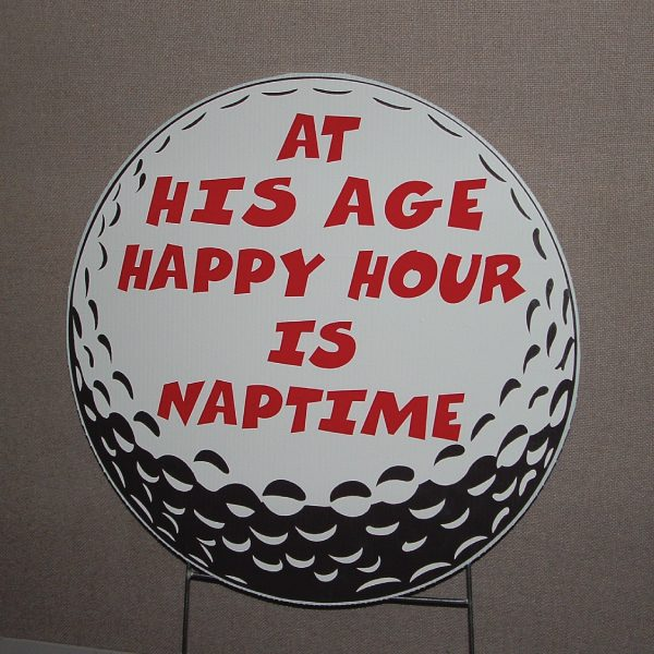 go12_golf_duffer_over_the_hill_happy_birthday_yard_greetings_cards_lawn_signs_sports
