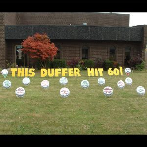 golf_duffer_yard_greetings_lawn_signs_cards_happy_birthday_hoppy_over_hill