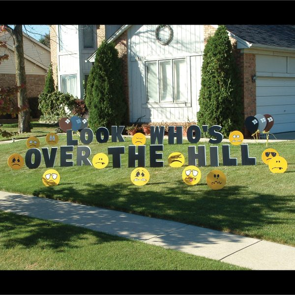 insult_unsmiley_faces_emoji_yard_greetings_cards_lawn_signs_happy_birthday_over_hill