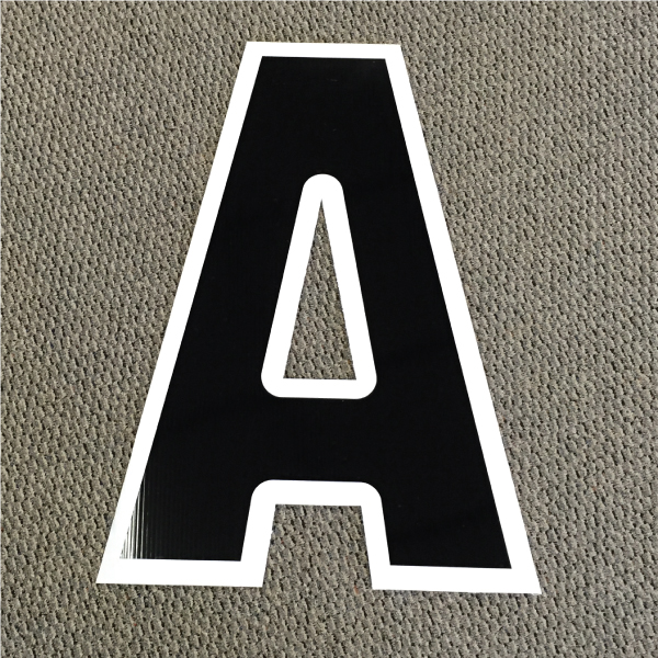 Letter A Black and White Yard Greeting Cards Lawn Signs Corrugated Plastic
