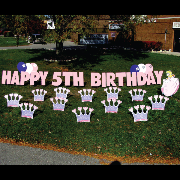 princess theme  yard greetings lawn signs  happy