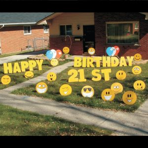 smiley_faces_yard_greetings_lawn_signs_cards_happy_birthday_hoppy_over_hill