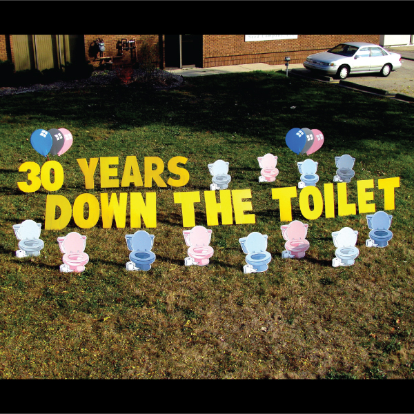 toilet_down_yard_greetings_lawn_signs_cards_happy_birthday_hoppy_over_hill