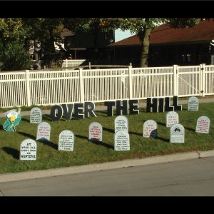tombstones_grim_reaper_yard_greetings_lawn_signs_cards_happy_birthday_hoppy_over_hill