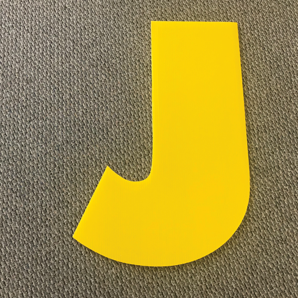 letter-j-yellow-yard-greeting-card-sign-happy-birthday-over-the-hill-plastic