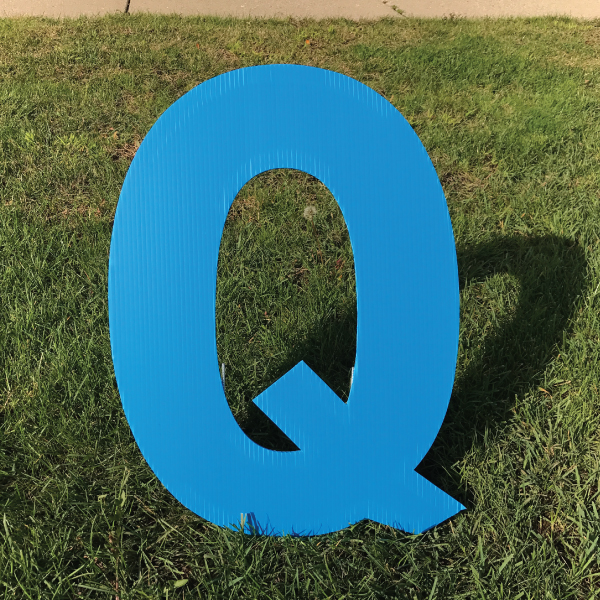 letter-q-blue-yard-greeting-card-sign-happy-birthday-over-the-hill-plastic