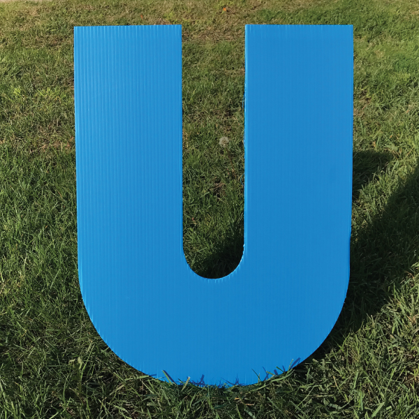letter-u-blue-yard-greeting-card-sign-happy-birthday-over-the-hill-plastic