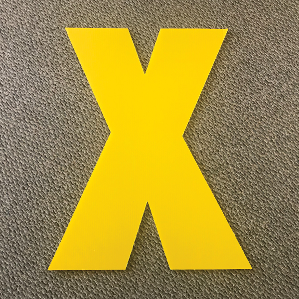 letter-x-yellow-yard-greeting-card-sign-happy-birthday-over-the-hill-plastic