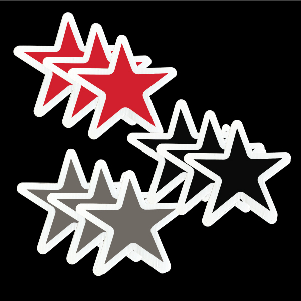 stars_black_red_silver_yard_greetings_lawn_signs_cards_happy_birthday_hoppy_over_hill