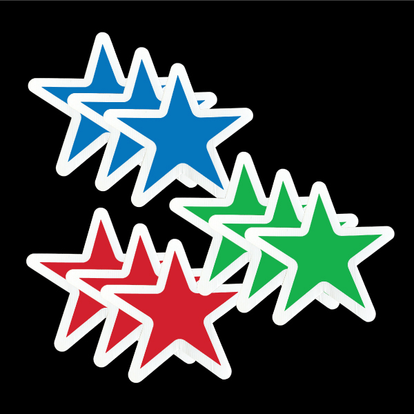 stars_blue_red_green_yard_greetings_lawn_signs_cards_happy_birthday_hoppy_over_hill