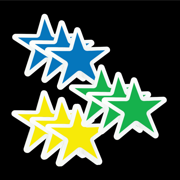 stars_blue_yellow_green_yard_greetings_lawn_signs_cards_happy_birthday_hoppy_over_hill