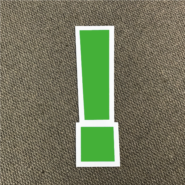 symbol-exclamation-green-and-white-yard-greeting-card-sign-happy-birthday-over-the-hill-plastic