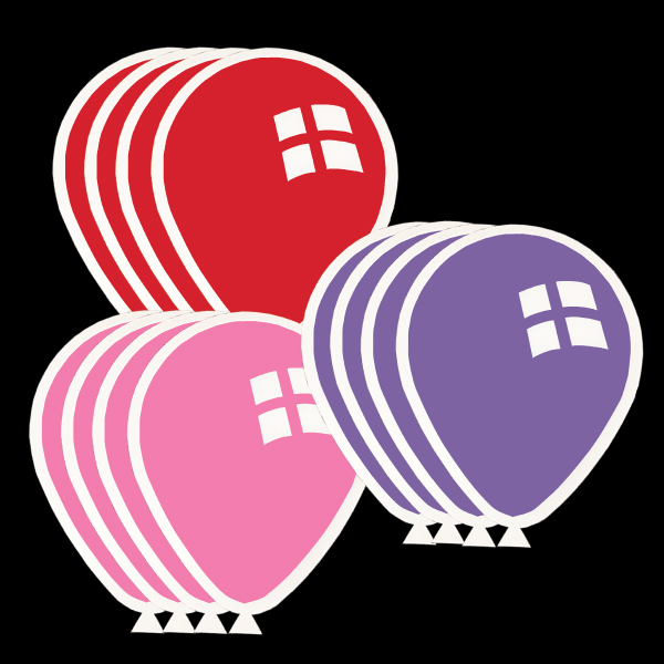 balloons_2_tone_purple_pink_red_yard_greetings_cards_lawn_signs_happy_birthday_over_hill