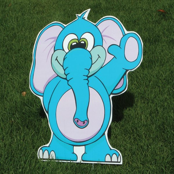 elephant_zoo_animals_yard_greetings_cards_lawn_signs_happy_birthday_over_hill