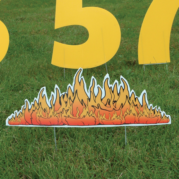 fire_holy_smoke_yard_greetings_lawn_signs_cards_happy_birthday_hoppy_over_hill
