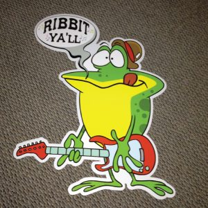 frog_left_ribbit_yall_hoppy_birthday_yard_greetings_lawn_signs_cards_happy_over_hill