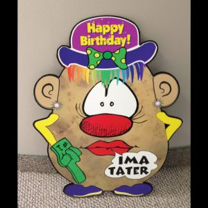hp9_hot_potatos_yard_greetings_lawn_signs_cards_happy_birthday_hoppy_over_hill