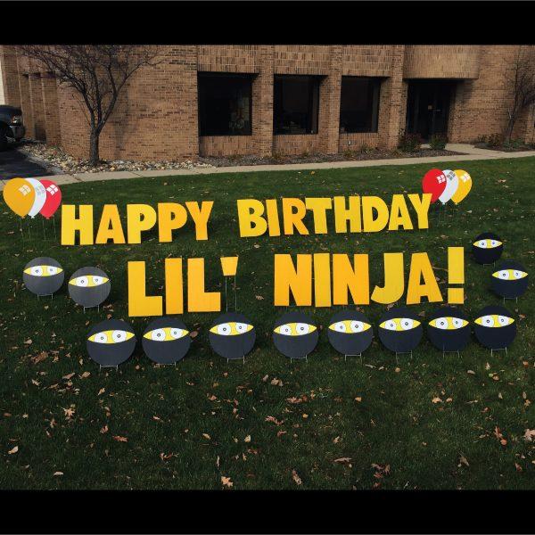 lil_ninja__2_yard_greetings_lawn_signs_cards_happy_birthday_hoppy_over_hill