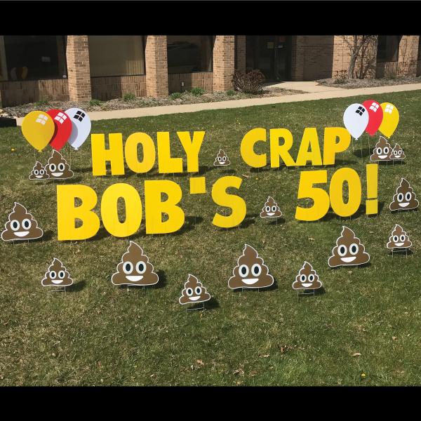smiley poo yard greetings poop emoji yard signs