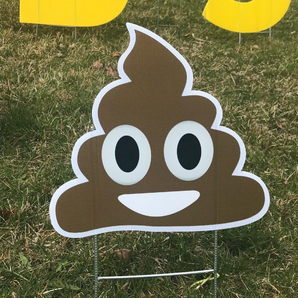 smiley_poo_poop_yard_greetings_lawn_signs_cards_happy_birthday_hoppy_over_hill_3