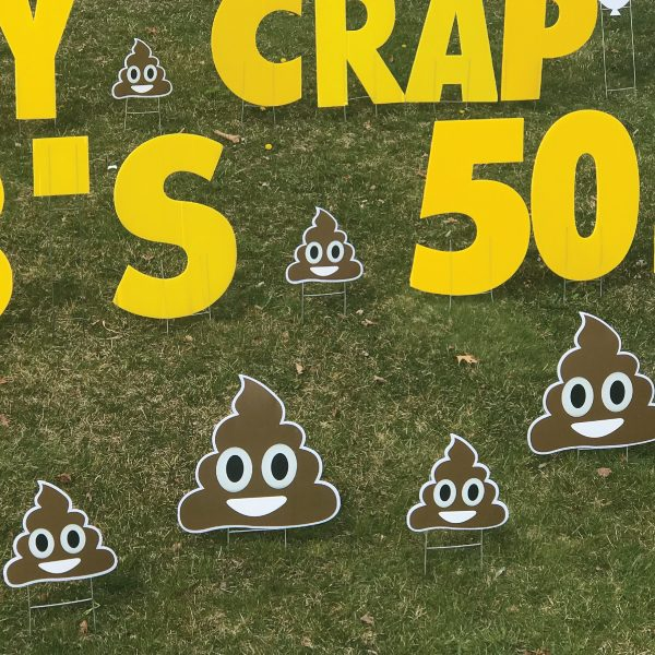 smiley_poo_poop_yard_greetings_lawn_signs_cards_happy_birthday_hoppy_over_hill_4