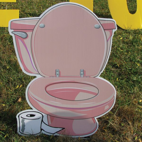 toilet_pink_down_yard_greetings_lawn_signs_cards_happy_birthday_hoppy_over_hill