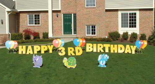 zoo_animals_Yard_Greetings_Cards_Lawn_Signs_Happy_Birthday_Over_the_hill