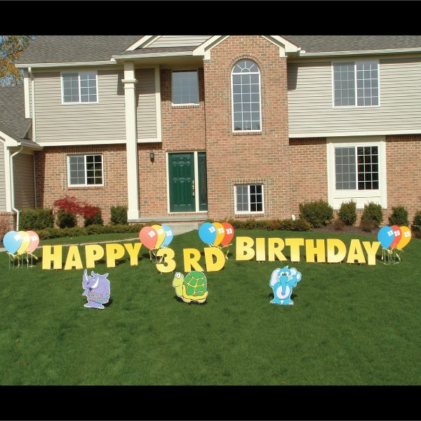 zoo_animals_yard_greetings_cards_lawn_signs_happy_birthday_over_hill