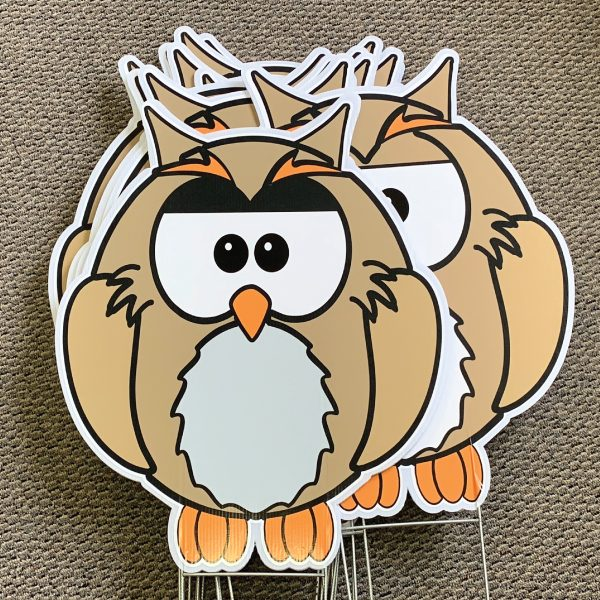 dozen_owl_look_whoo's_animals_yard_greetings_yard_cards_happy_birthday_over_the_hill_lawn_signs_5