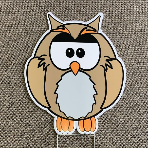 owl_grey_look_whoo's_animals_yard_greetings_yard_cards_happy_birthday_over_the_hill_lawn_signs_5