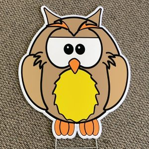 owl_yellow_look_whoo's_animals_yard_greetings_yard_cards_happy_birthday_over_the_hill_lawn_signs_5