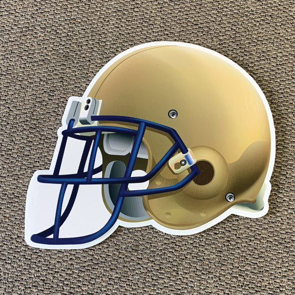 gold_helmet_football_yard_greetings_yard_cards_lawn_signs