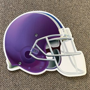 purple_helmet_football_yard_greetings_yard_cards_lawn_signs