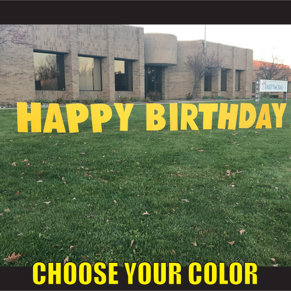 happy birthday lawn signs letters coroplast letters