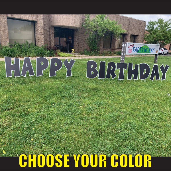 choose happy birthday lawn signs yard greetings cards corrugated plastic letters