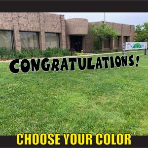 CHOOSE LETTER congratulations coroplast corrugated happy birthday yard greeting lawn sign