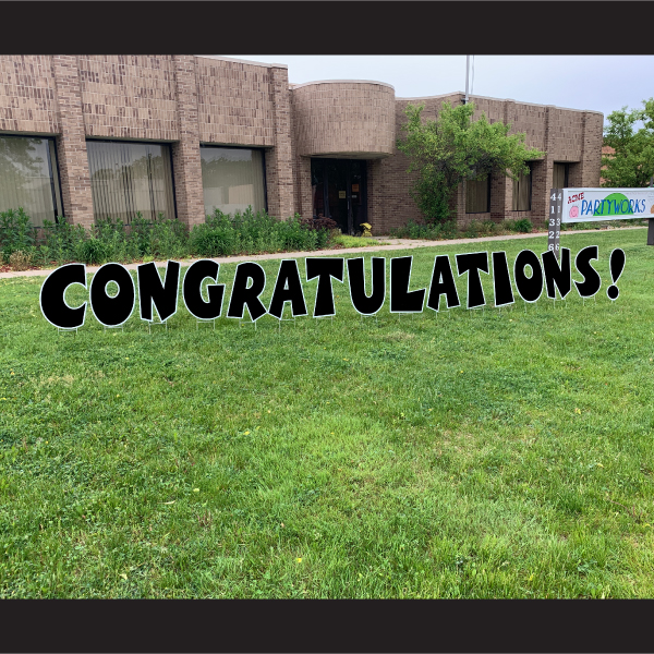 congratulations coroplast letters yard greetings cards graduation yard signs