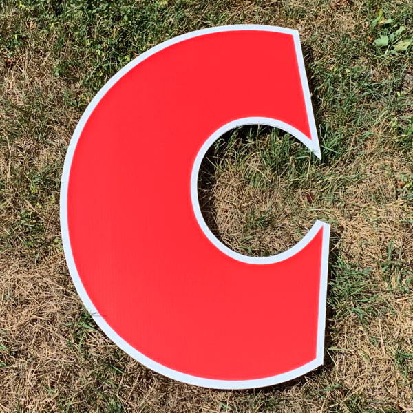 red letter c yard greetings cards corrugated plastic coroplast happy birthday lawn
