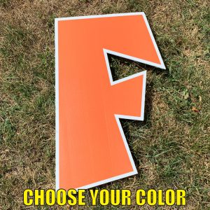 Choose letter f yard greetings cards corrugated plastic coroplast happy birthday lawn