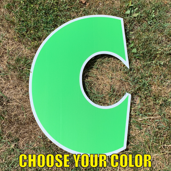Choose letter c yard greetings cards corrugated plastic coroplast happy birthday lawn