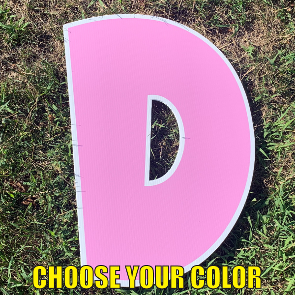 choose letter d yard greetings cards corrugated plastic coroplast happy birthday lawn