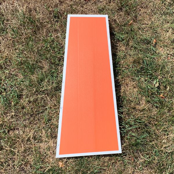 orange letter I yard greetings cards corrugated plastic coroplast happy birthday lawn