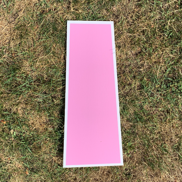 pink letter I yard greetings cards corrugated plastic coroplast happy birthday lawn
